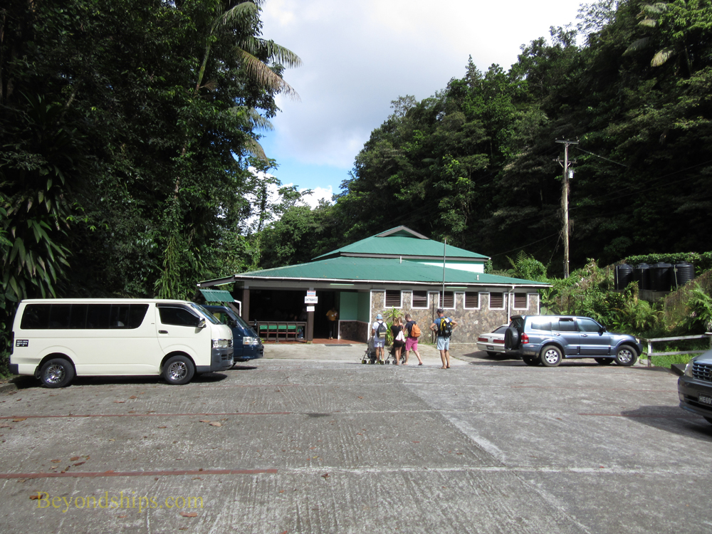 The Visitor Center at Dominica's Emerald Pool.