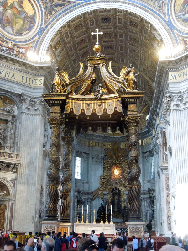Papal alter, St Peter's Basilica