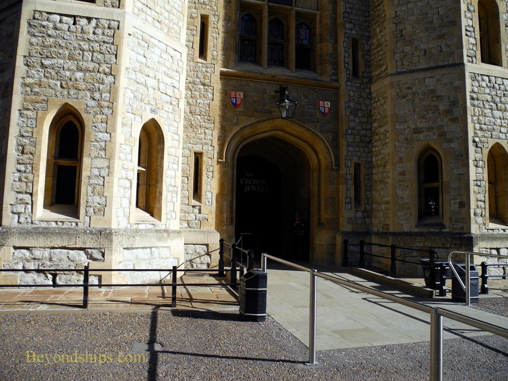 Entrance to the Crown Jewels exhibit at The Tower of London
