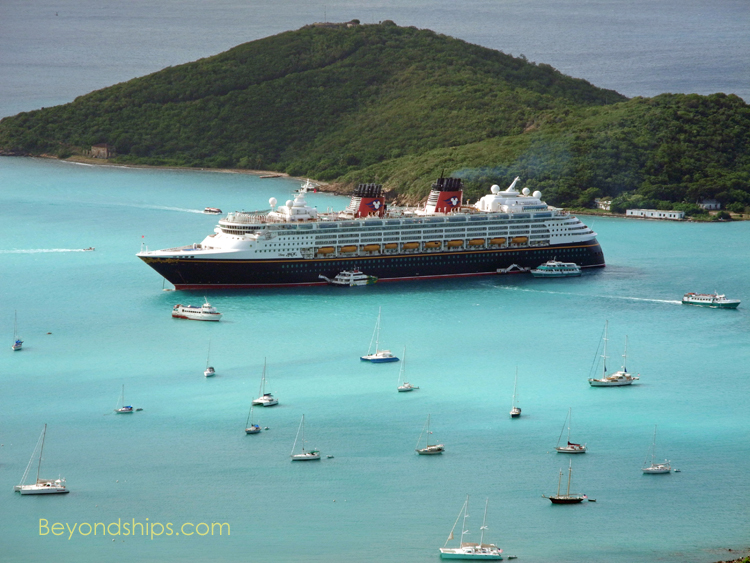 Cruise ship tendering off St. Thomas