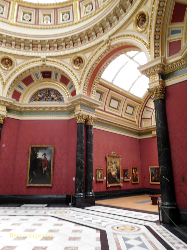 Exhibit space, National Gallery, London