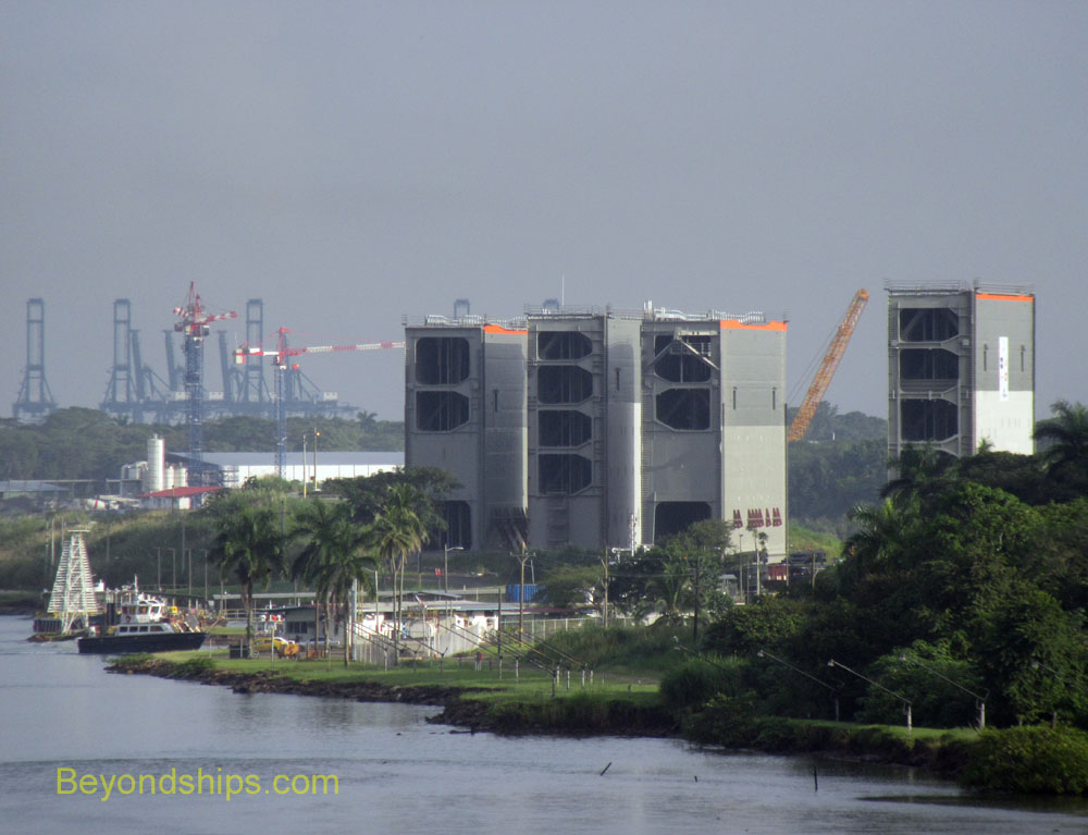Panama Canal gates for the new locks