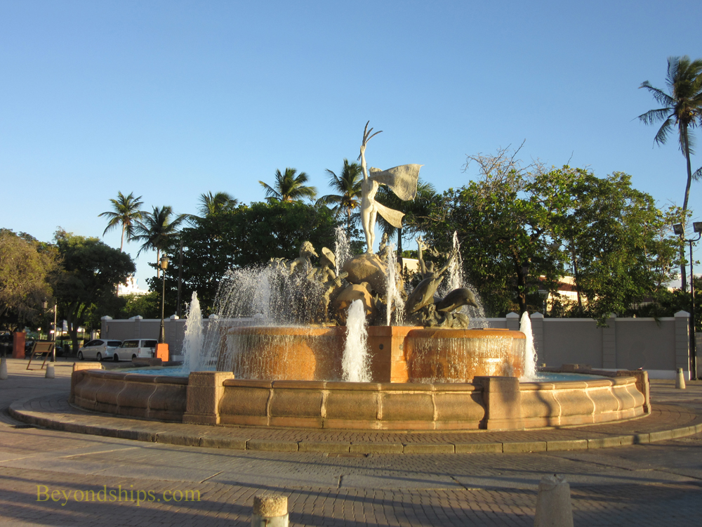 Racies Fountain, Old San Juan, Puerto Rico