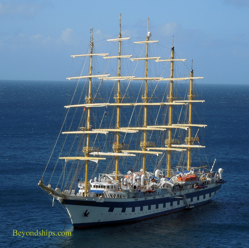 Royal Clipper off St. Kitts