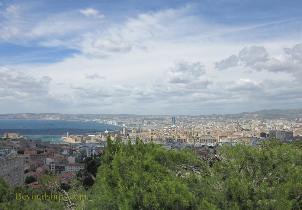 View of Marseille from Notre Dame du Gard, Marseille, France