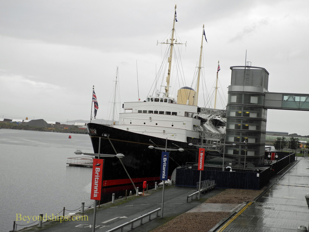 Royal Yacht Britannia at Leith cruise port Edinburgh Scotland