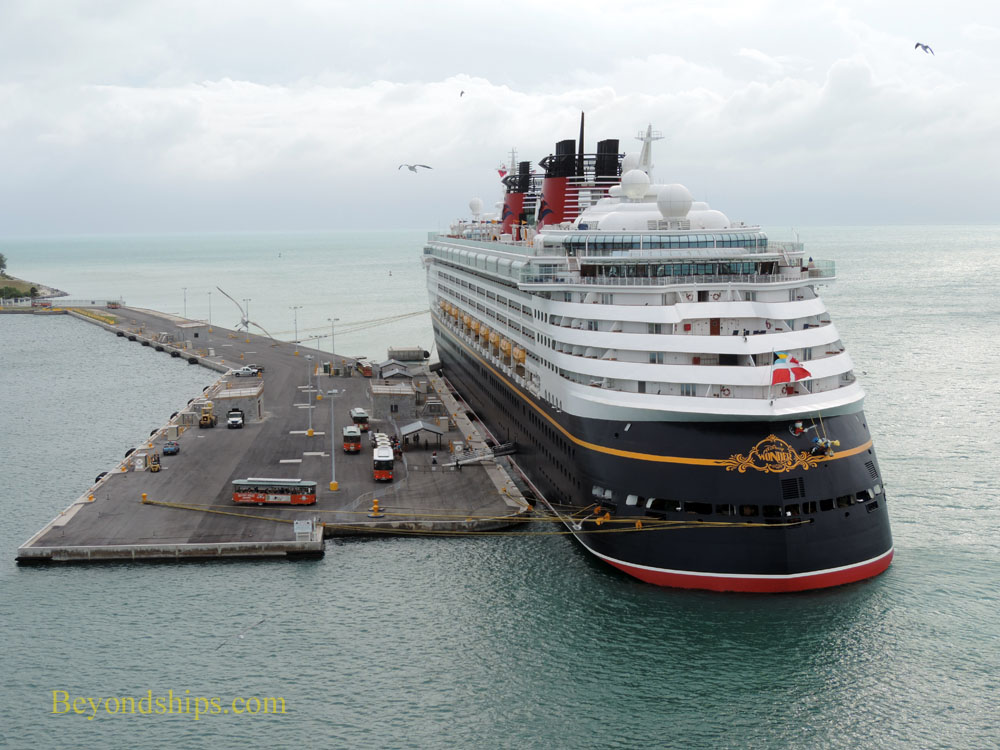 Disney Wonder cruise ship in Key West
