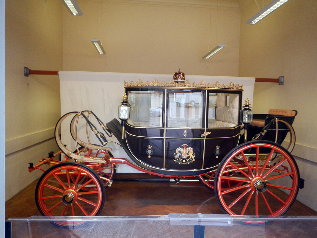 Scottish State Coach, Royal Mews, Buckingham Palace, London