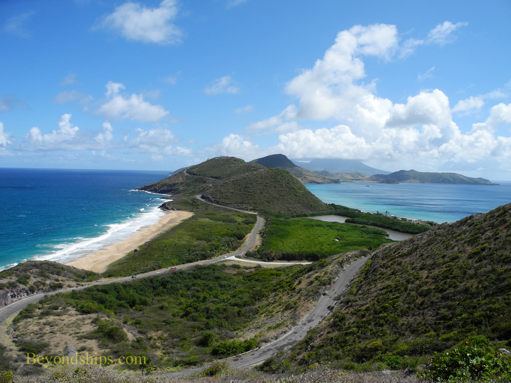 St Kitts South East Peninsula from Timothy Hill