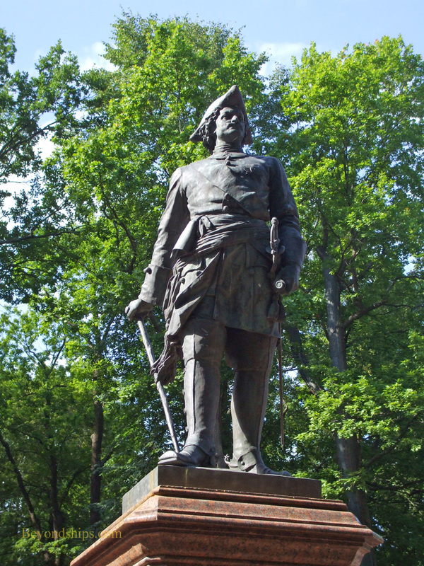 Picture of a statue of Peter the Great, St. Petersburg