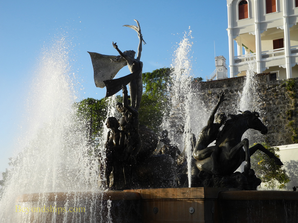 Picture Raices Fountain, Old San Juan, cruise destination