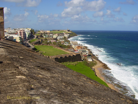 Picture Fortress San Cristobal, Old San Juan, cruise destination