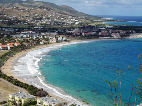 Picture St Kitts Frigate Bay North from Timothy Hill