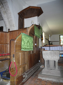 Picture New Forest England Minsted church interior