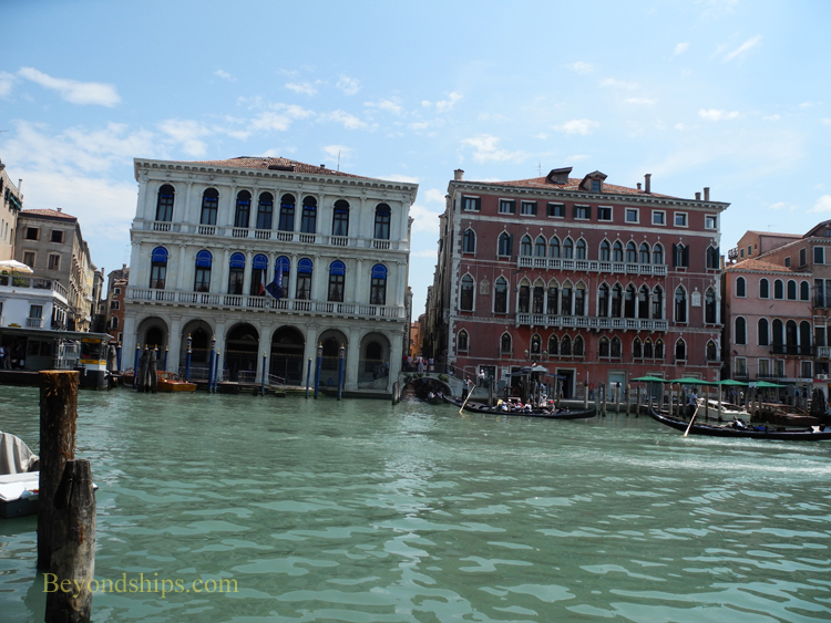 Picture Grand Canal palaces Venice Italy