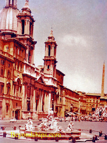 Piazza Navona in the 1960s