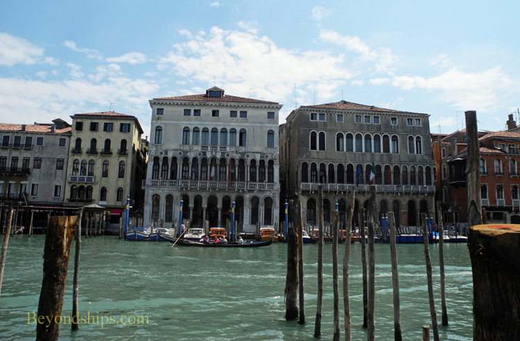 Picture palaces along the Grand Canal in Venice Italy