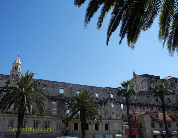 Split Croatia, south wall of Diocletian's Palace