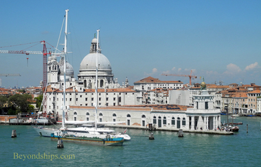 Picture cruise destination Venice Italy customs house