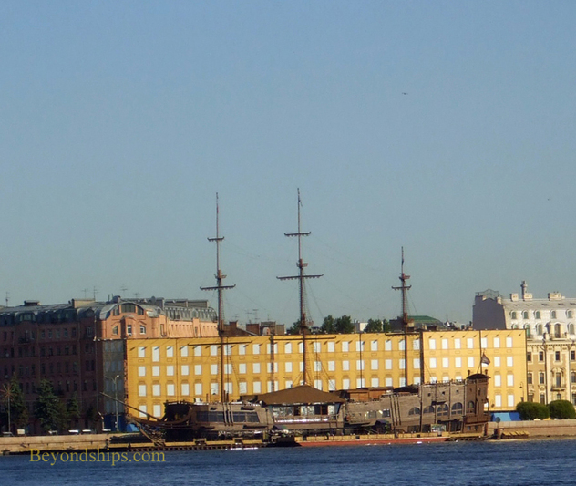 Photo of wooden ship Neva River St. Petersburg