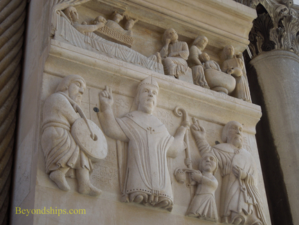 Relief in Diocletian's Palace Split Croatia