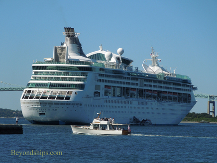 Cruise ship Enchantment of the Seas off Newport Rhode Island