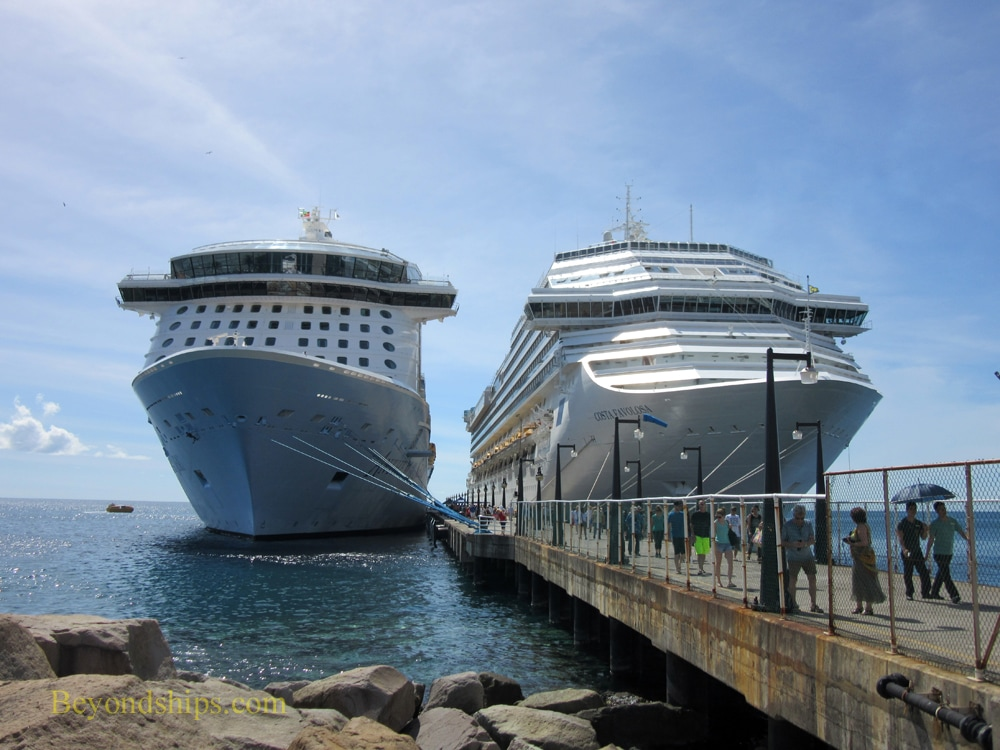 Anthem of the Seas and Costa Favulos cruise ships