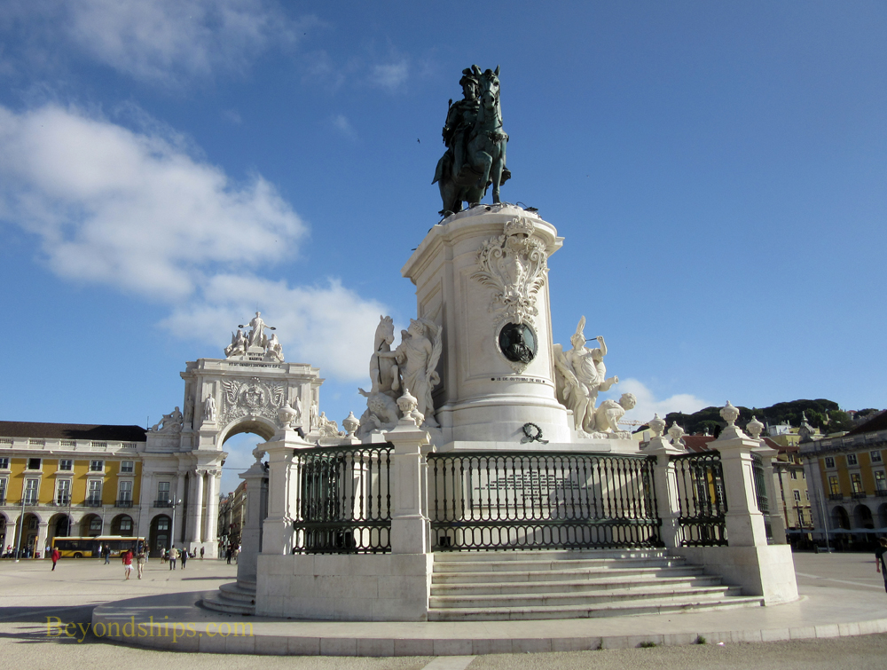 Lisbon, statue of King Jose I, Commerce Square