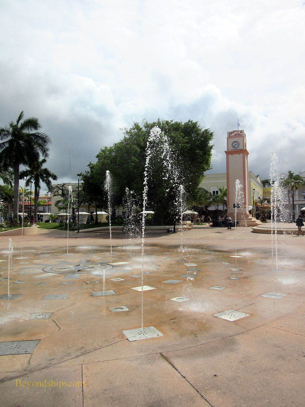 Town Square in San Miguel, Cozumel, Mexico