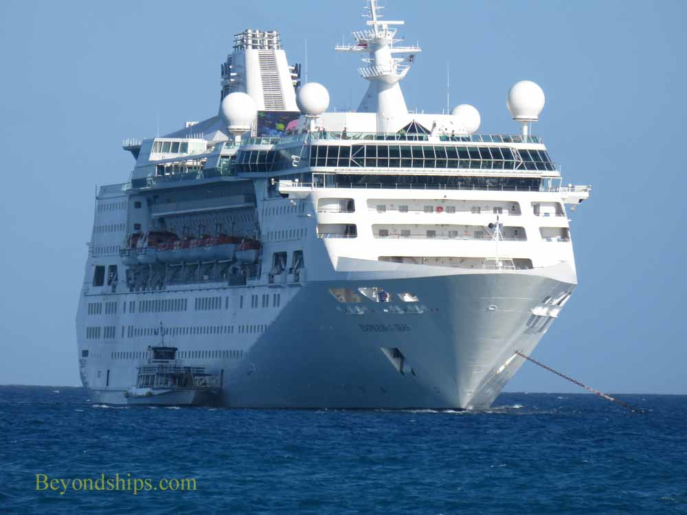 Cruise ship Empress of the Seas at Coco Cay, BahamasPicture