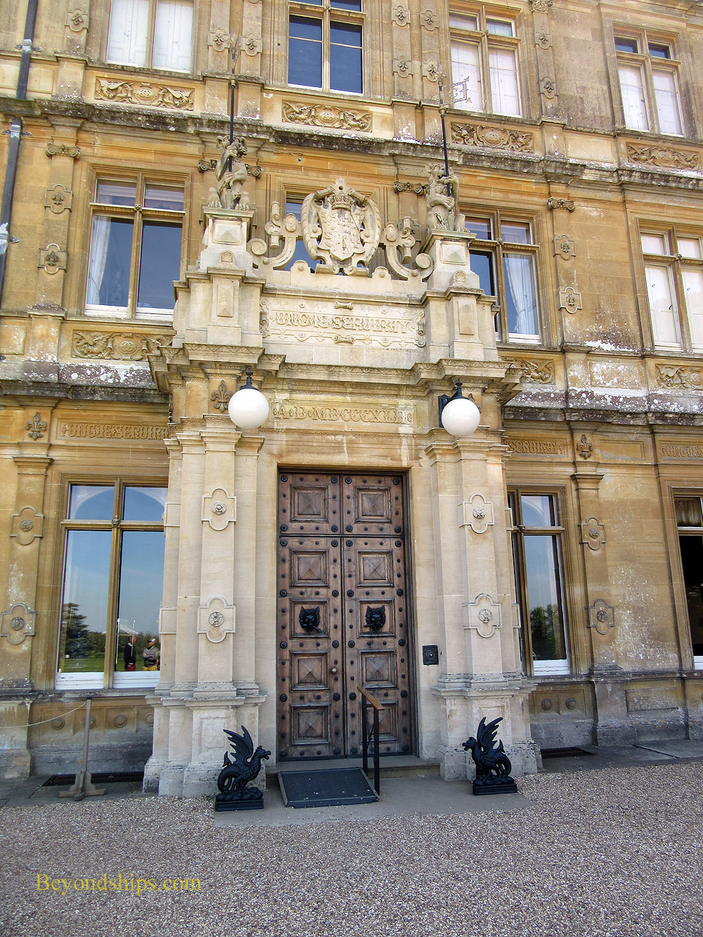 Main entrance of Highclere Castle