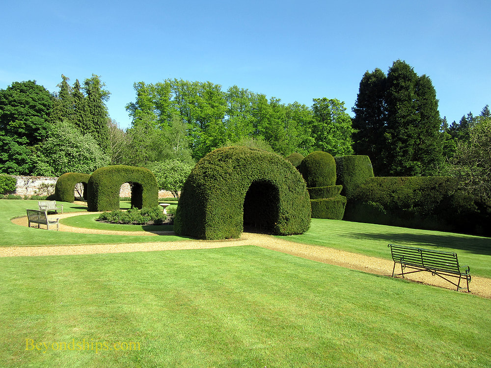 Yew arches at Highclere Castle