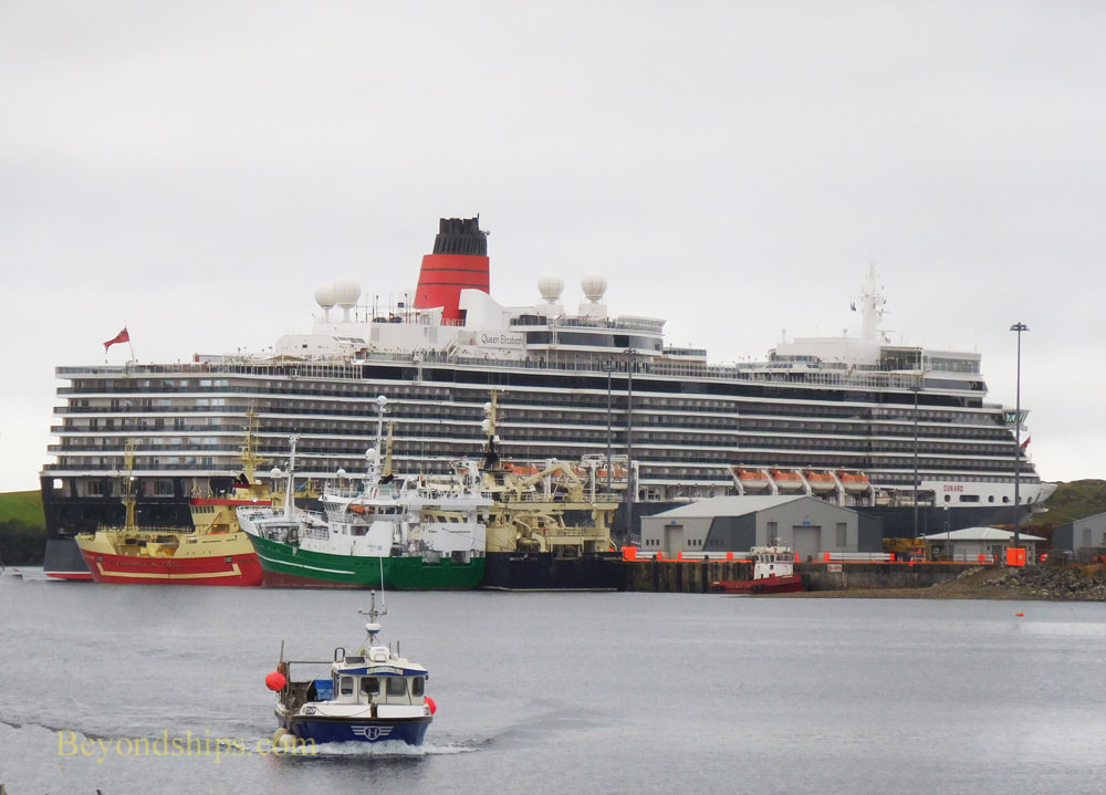 Cruise ship Queen Elizabeth in Killybegs, Ireland
