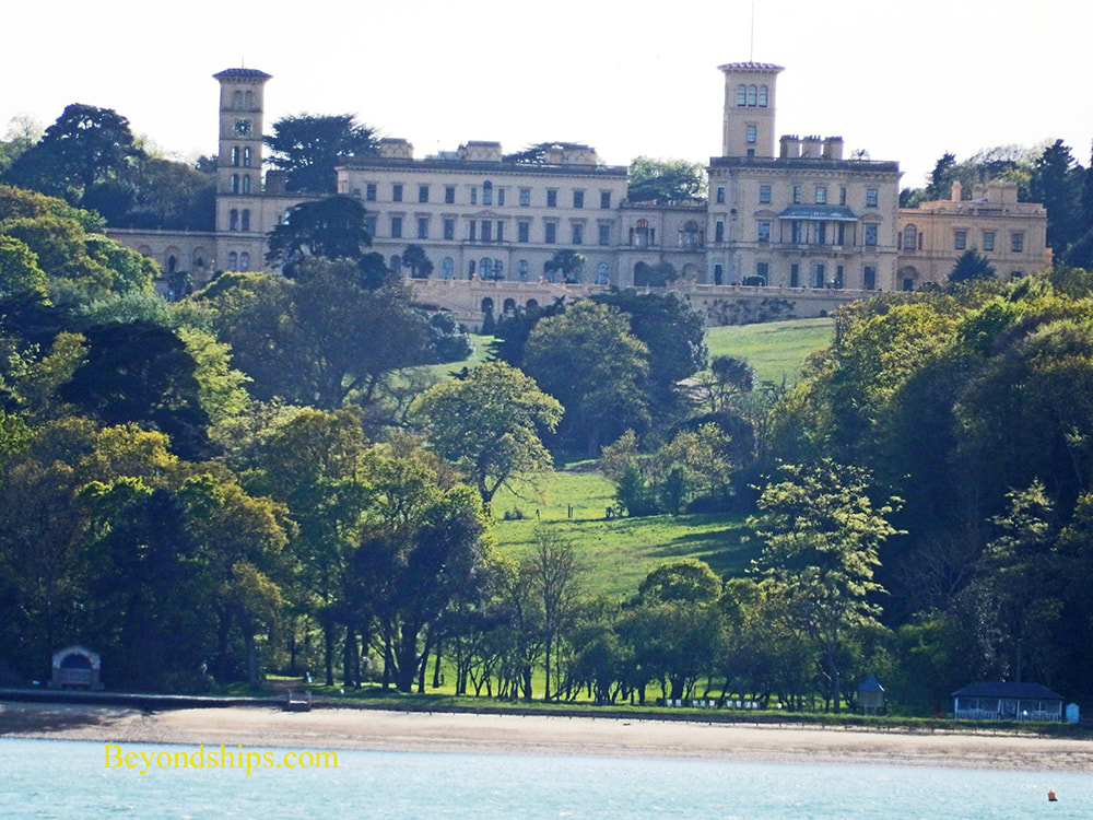 Osbourne House from the sea