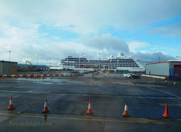 Pacific Princess cruise ship at Rosyth cruise port near Edinburgh Scotland